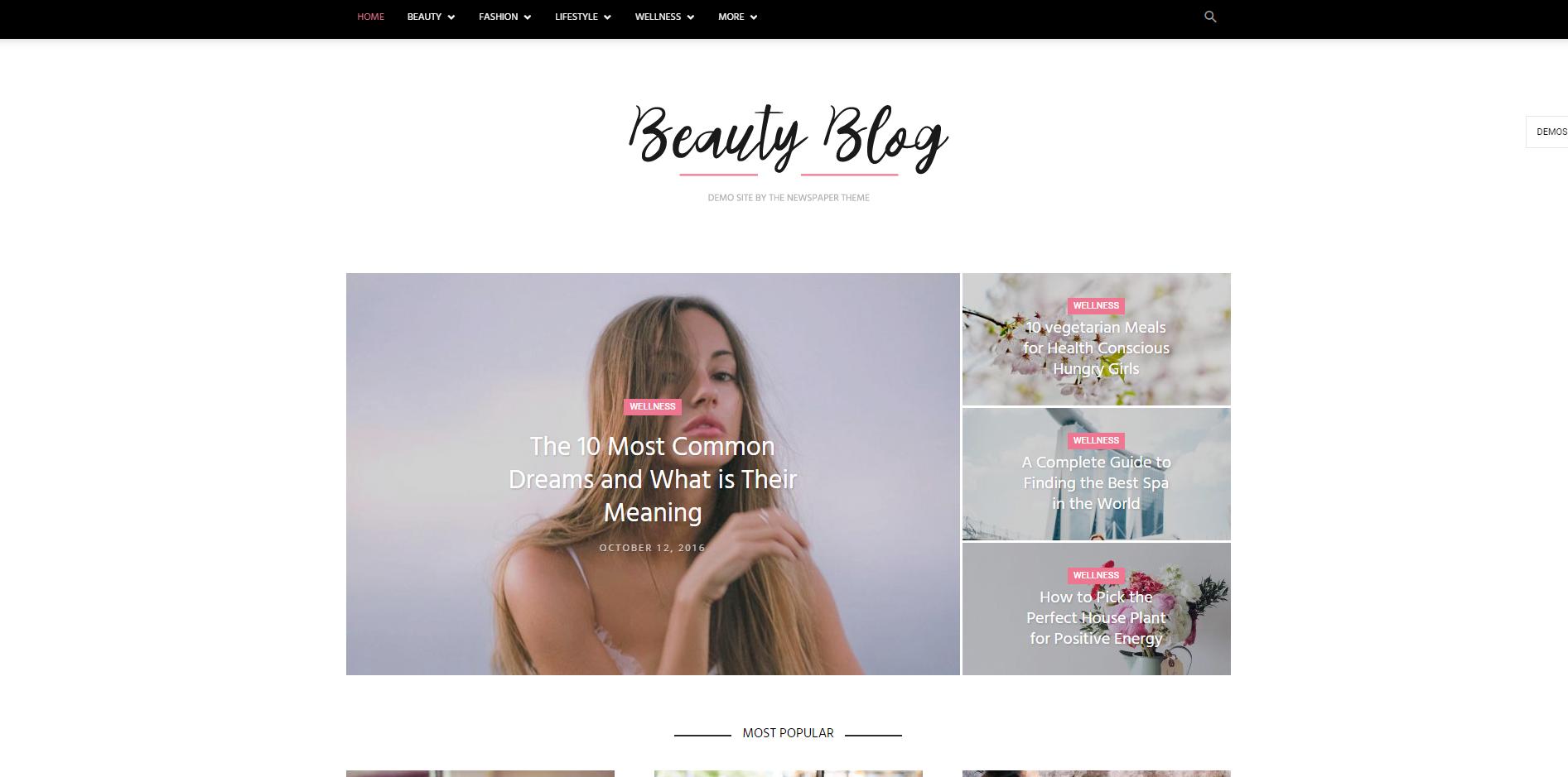 Makyaj Blogu Teması