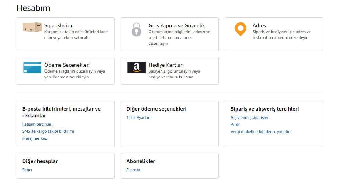 Amazon Türkiye Rehberi