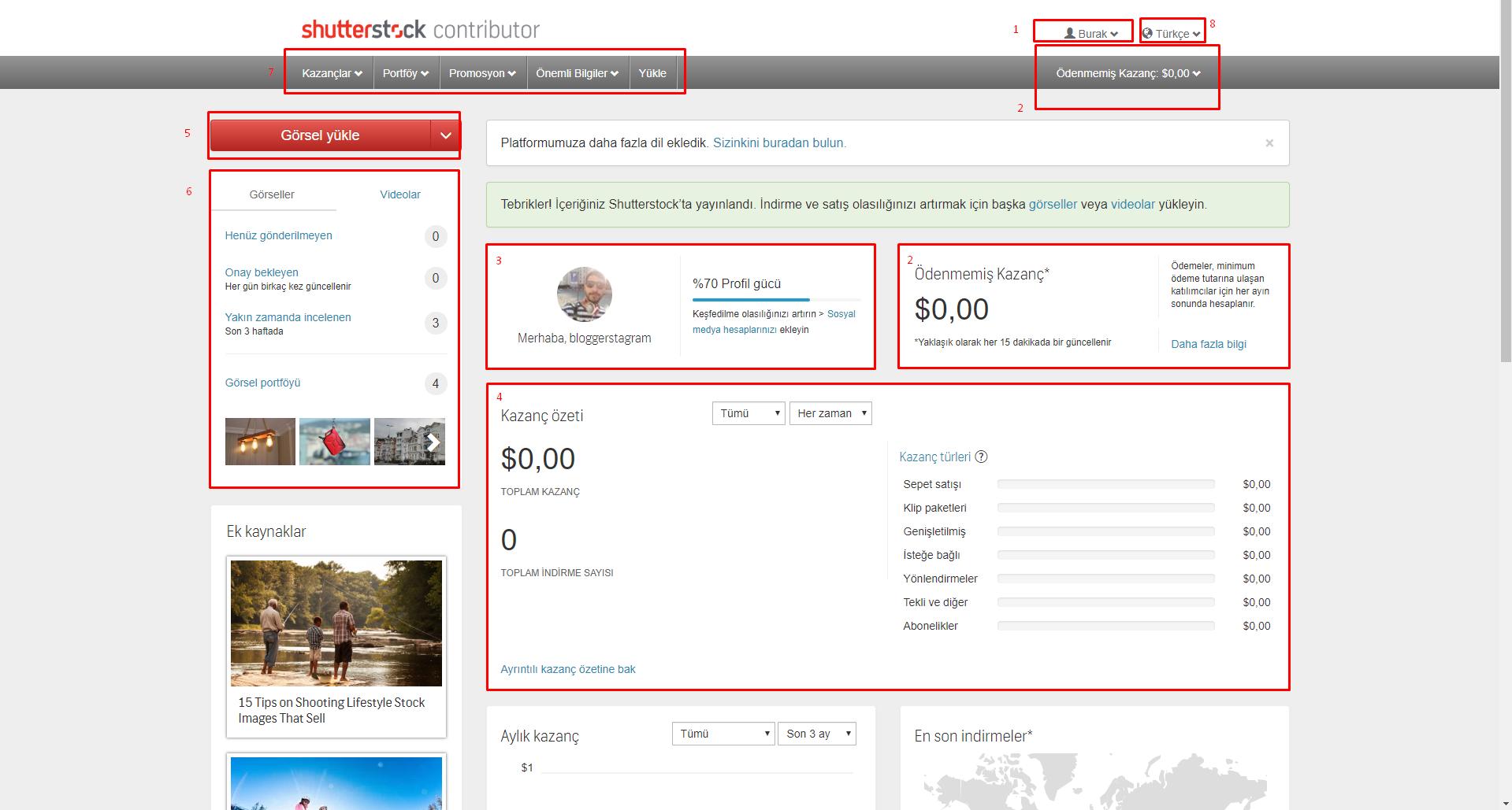 Shutterstock Satıcı Hesabı