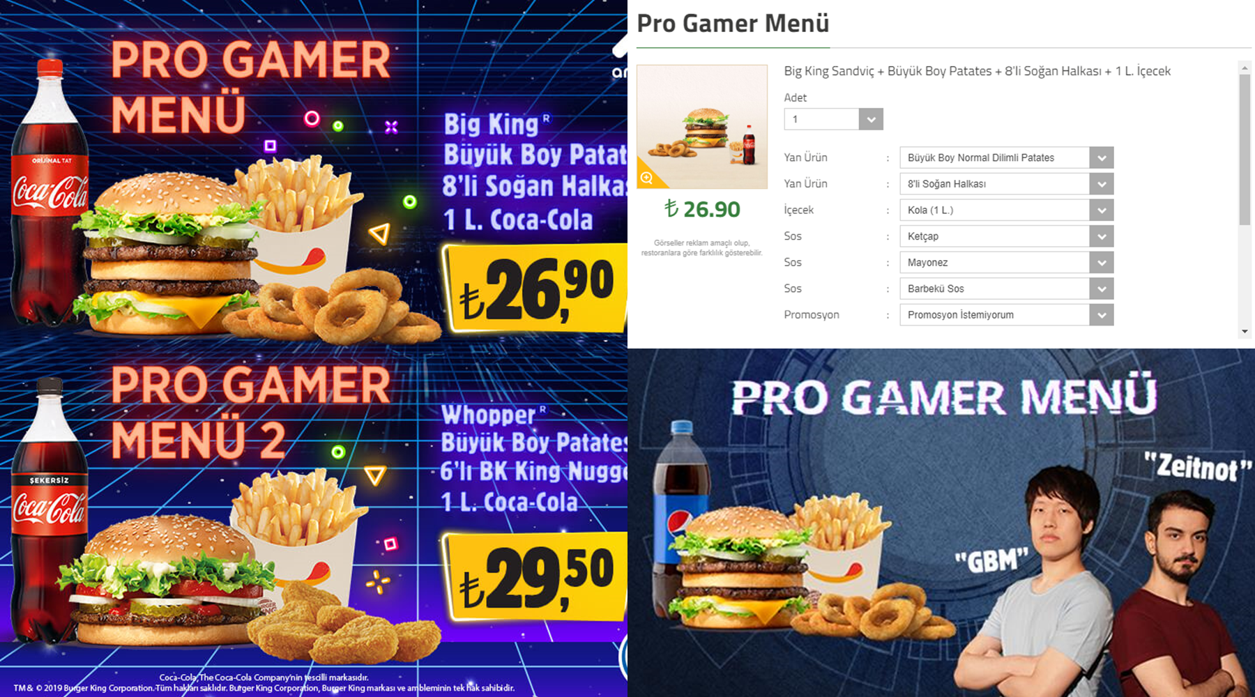 Burger King Pro Gamer Menü