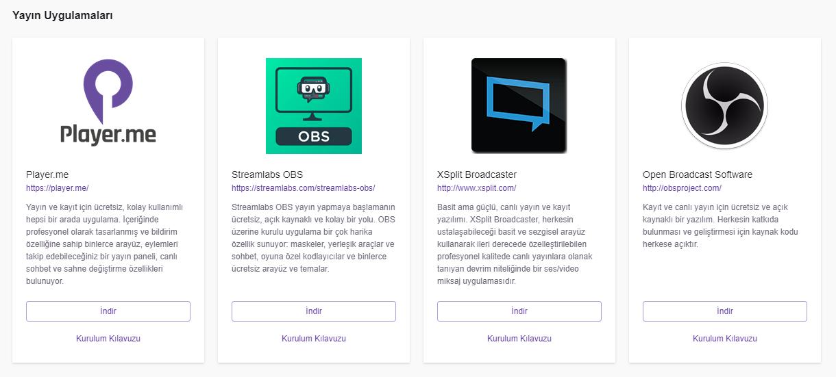 Twitch yayın programları